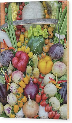 Garden Produce Wood Print by Tim Gainey