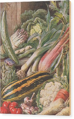Garden Vegetables Wood Print by Louis Fairfax Muckley