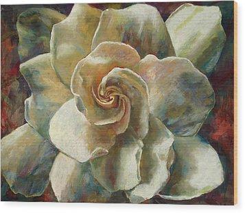 Gardenia Wood Print by Billie Colson