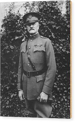 General John J. Pershing Wood Print by War Is Hell Store