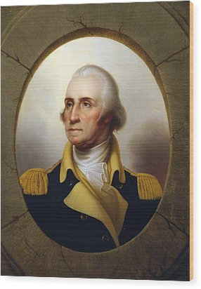 General Washington - Porthole Portrait  Wood Print by War Is Hell Store