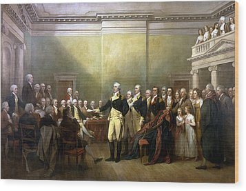 General Washington Resigning His Commission Wood Print by War Is Hell Store