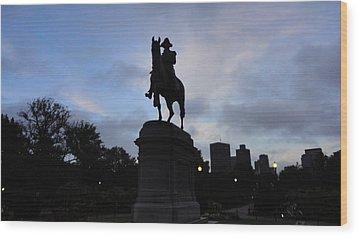 General Washington Rides Wood Print by Eliot Jenkins