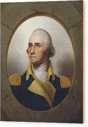 General Washington Wood Print by War Is Hell Store