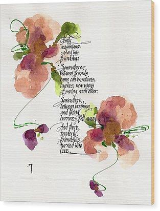 Gently Wood Print by Darlene Flood