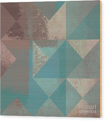 Geomix 03 - S123bc04t2a Wood Print by Variance Collections