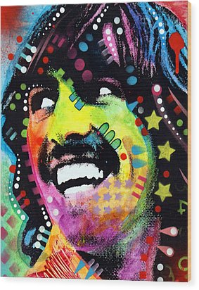 George Harrison Wood Print by Dean Russo