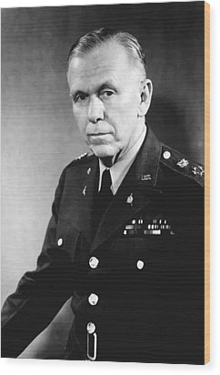 George Marshall Wood Print by War Is Hell Store
