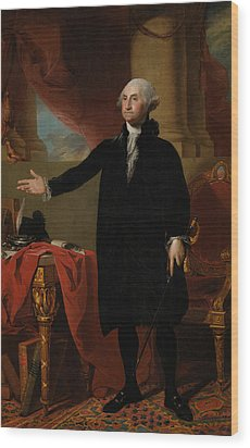 George Washington Lansdowne Portrait Wood Print by War Is Hell Store