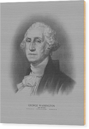 George Washington Wood Print by War Is Hell Store