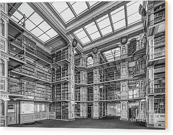 Georgetown University Riggs Library Wood Print by University Icons