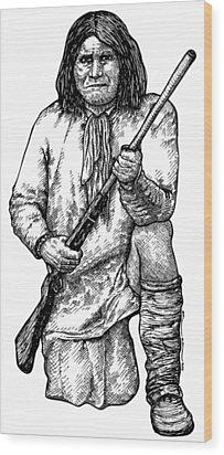 Geronimo Wood Print by Karl Addison