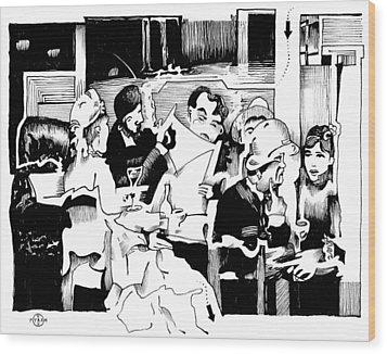 Gervex Paris Cafe Wood Print by Gary Peterson