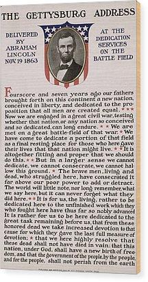 Gettysburg Address Wood Print by International  Images
