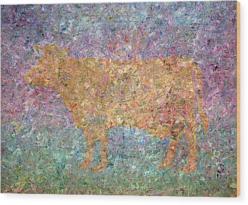 Ghost Of A Cow Wood Print by James W Johnson