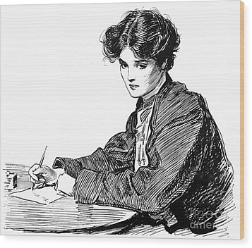Gibson: Drawings, C1900 Wood Print by Granger