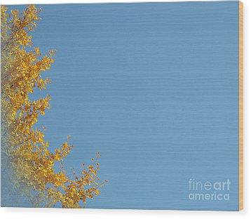Ginkgo Fantasy In Blue Wood Print by Eena Bo