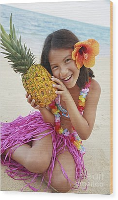 Girl In Tropical Paradise Wood Print by Brandon Tabiolo - Printscapes