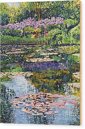 Giverny Reflections Wood Print by David Lloyd Glover