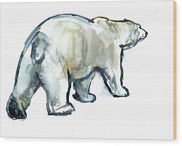 Glacier Mint Wood Print by Mark Adlington
