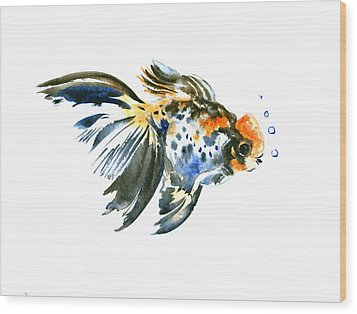 Goldfish Wood Print by Suren Nersisyan