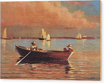 Gloucester Harbor Wood Print by Winslow Homer