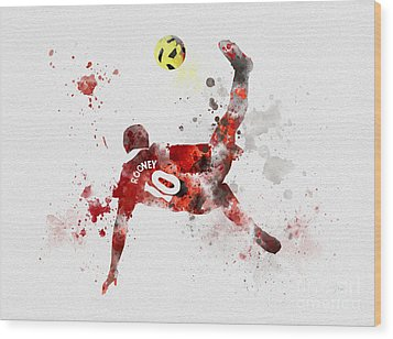 Goal Of The Season Wood Print by Rebecca Jenkins
