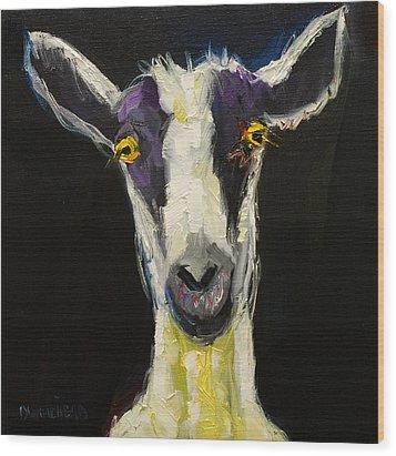 Goat Gloat Wood Print by Diane Whitehead