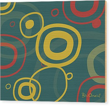 Gogo - Retro-modern Abstract Wood Print by Bill ONeil