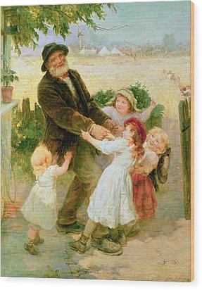Going To The Fair Wood Print by Frederick Morgan