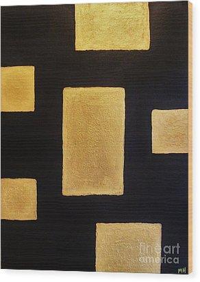 Gold Bars Wood Print by Marsha Heiken