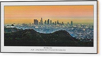 Golden California Sunrise Poster Print Wood Print by Az Jackson