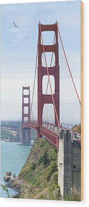 Golden Gate Bridge Wood Print by Mike McGlothlen