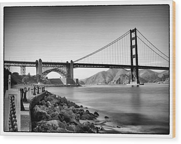 Golden Gate From Fort Point Wood Print by Tanya Harrison