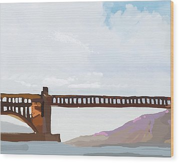 Golden Gate Two Wood Print by Brad Burns