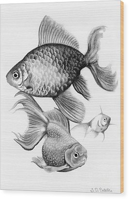 Goldfish Wood Print by Sarah Batalka