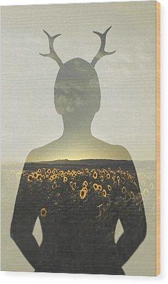 Goodbye Summer Wood Print by Art of Invi