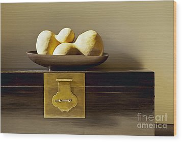 Gourds Still Life I Wood Print by Kyle Rothenborg - Printscapes