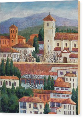 Granada View Wood Print by Candy Mayer