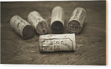 Grand Cru Classe Wood Print by Frank Tschakert