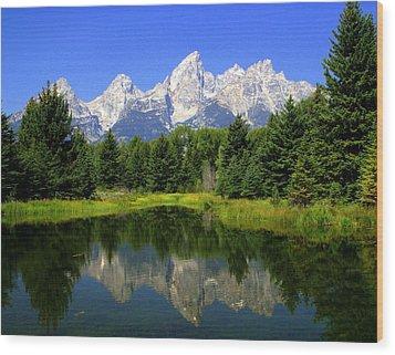 Grand Tetons 2 Horizontal Wood Print by Marty Koch