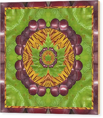 Grape Domain Wood Print by Bell And Todd