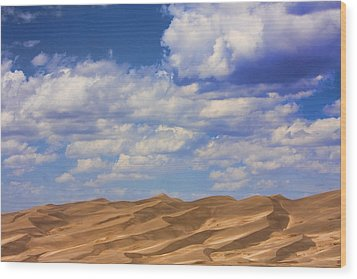 Great Colorado Sand Dunes Mixed View Wood Print by James BO  Insogna