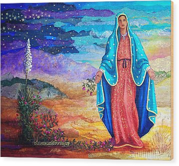 Guadalupe De La Frontera Wood Print by Candy Mayer