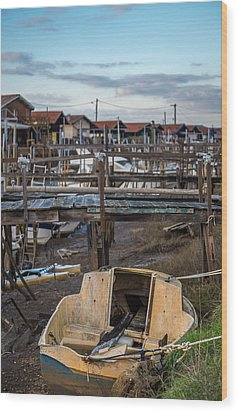 Wood Print featuring the photograph Gujan Mestras II by Thierry Bouriat