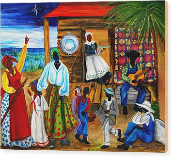 Gullah Christmas Wood Print by Diane Britton Dunham