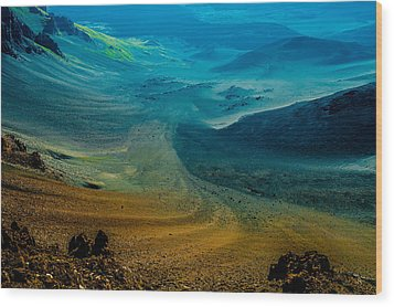 Wood Print featuring the photograph Haleakala by M G Whittingham