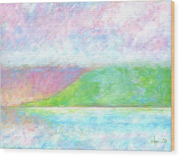 Haleakala Dawn Wood Print by Angela Treat Lyon