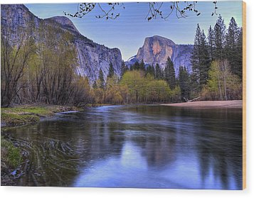 Half Dome Near Sunset Wood Print by Jim Dohms