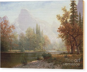 Half Dome Yosemite Wood Print by Albert Bierstadt